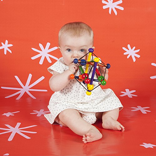 51Cc9zqa8NL - Manhattan Toy Skwish Classic Rattle and Teether Grasping Activity Toy