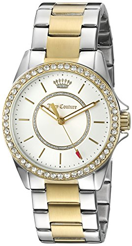 Juicy Couture Women's 'Laguna' Quartz Silver and Gold and Stainless Steel Casual Watch, Color:Two Tone (Model: 1901411) ()