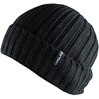 CAMOLAND Men's Fleece Wool Cable Knit Winter Beanie Hat