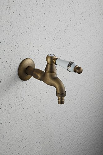 LINA@ European antique copper ceramic washer faucet cold MOP into wall faucet -