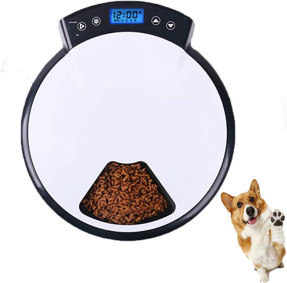 FXQIN Alimentador automático de Mascotas para Perros, Gatos y Conejos: Alimentos Secos y húmedos Máquina de Alimentos, Control Parcial programable, Modo de alimentación Doble