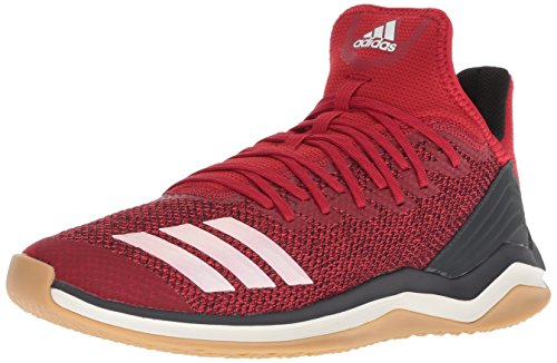 adidas Men's Icon 4 Baseball Shoe, Power red/Cloud White/Carbon, 10.5 M - Softball Men's Shoes