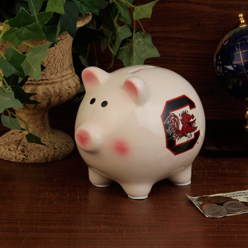 The Memory Company NCAA University of South Carolina Official Team Piggy Bank, Multicolor, One Size by The Memory Company