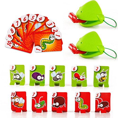 Rucan Tic Tac Tongue catch bugs game, Take Card-Eat Pest Car,Double Game -