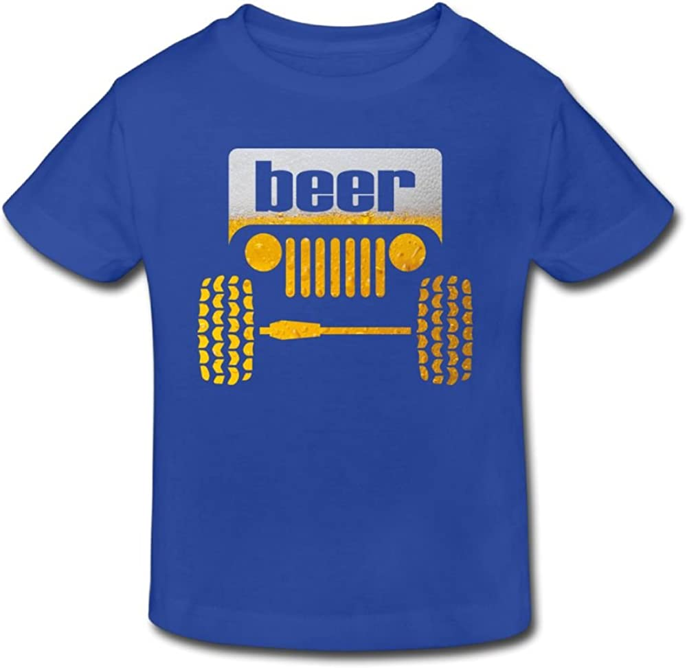 Wiongh Opp Cotton Short-Sleeve Shirt Jeep Beer Childrens//Kid For Girls-Boy
