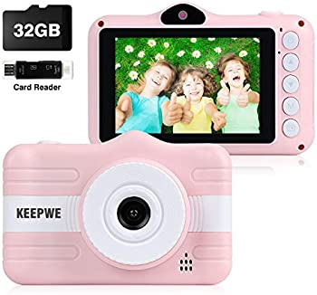Keepwe Digital Camera for Kids with 32GB SD Card, SD Card Reader