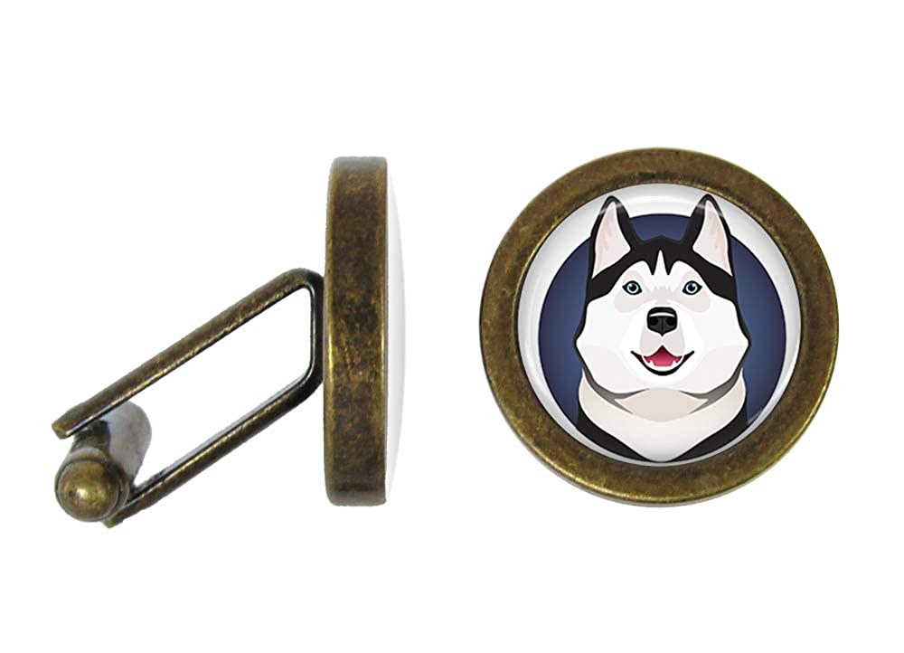 Angled Edition Oakmont Cufflinks Husky Cufflinks Huskies Cuff Links
