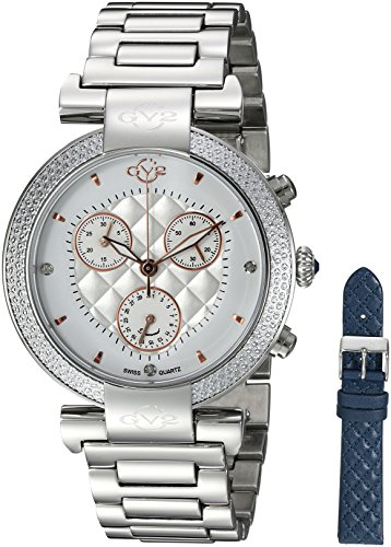 GV2-by-Gevril-Womens-Berletta-Chrono-Swiss-Quartz-Stainless-Steel-Casual-Watch-ColorSilver-Toned-Model-1550