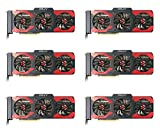 6 Packs of PNY GeForce GTX 1080 8GB XLR8 Gaming Overclocked Graphic Card (VCGGTX10808XGPB-OC) for Crypto Coin ETH Ethereum Zcash ZEC Bitcoin Mining Rig