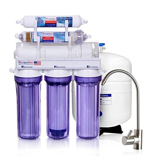 LiquaGen - 6 Stage Anti-oxidant Alkaline Ionizer Reverse Osmosis Under Sink Home Drinking Water Filtration System by LiquaGen