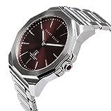 Perry Ellis Decagon Men 46mm Quartz Stainless Steel Watch 05002-02