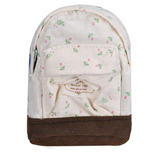 Backpack Floral White Kids Coin Girls Cheap Canvas TM Pouch Women Mini Fulltime IwHR7qtW