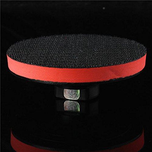 Letbo New 4 Inch Plastic Thread Foam Backer Pad For Diamond Polishing Pads Stone Polish Wet Dry
