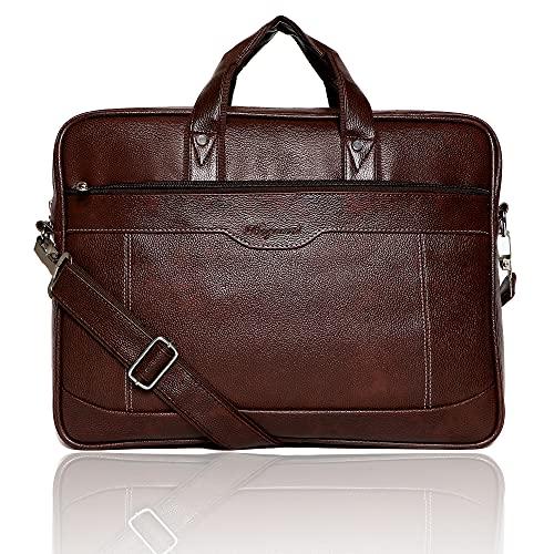 Bagneeds Synthetic Leather Best Laptop Messenger Bag for Men/Women (Brown)