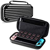 CAFELE Carrying Case For Nintendo Switch, Deluxe Hard Shell Travel Carry Case Portable Pouch Bag For Nintendo Switch Console & Accessories [Waterproof] [Dual Protection] [Large Capacity] – Black