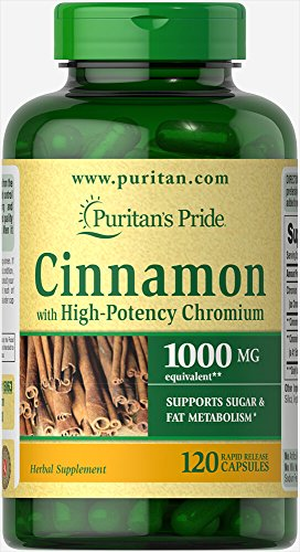 Puritan's Pride Cinnamon Capsules with High Potency Chromium, 1000 mg, 120 Count Review