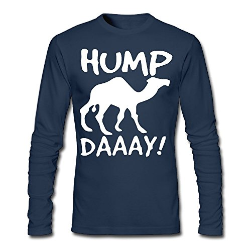 LSNQCPM Men's Hump Day Long-Sleeve Cotton Tee
