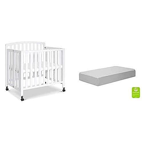 DaVinci Dylan Folding Portable Three-in-one Mini Crib and Twin Bed