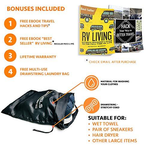 Travel Toiletry Bag - Dopp Kit for Men - Cosmetic Toiletry Bag for Men | Large Portable Bathroom Accessories Kit| Toiletry Kit | Hygiene Shaving bag | Mens Toiletry Travel Bag | Toiletries Bag for Men