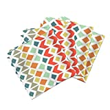 Roostery Tile Organic Sateen Dinner Napkins Mosaic by Elephantandrose Set of 4 Cotton Dinner Napkins Made