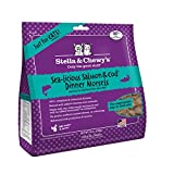 Stella & Chewy's Pouch Freeze-Dried Raw Sealicious Salmon & Cod Dinner Morsels Grain-Free Cat Food, 9 oz bag