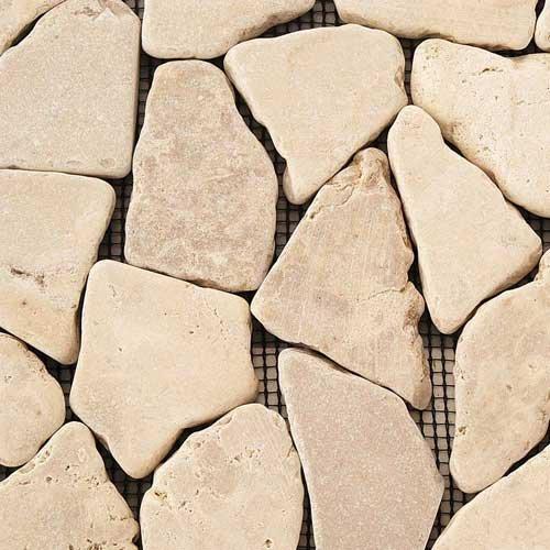 Solistone Indonesian Mosaic Jakarta Moon 12 x 12 Inch Marble Stone Floor Wall Tile (10 Sq. Ft./Case)