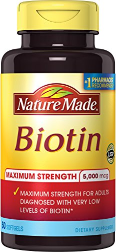 Nature Made Max Strength: Biotin (B7) 5000 mcg. Softgels 50 Ct