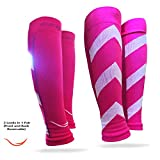 Rikedom Sports Graduated Compression Calf Sleeves Guard Socks (1 Pair), Relief Prevent Shin Splints, Calf Strain, Boost Circulation, Faster Recovery Leg Sleeves Support or Men and Women, Protection for Running, Walking, Cycling, Basketball, Training, Maternity, Travel
