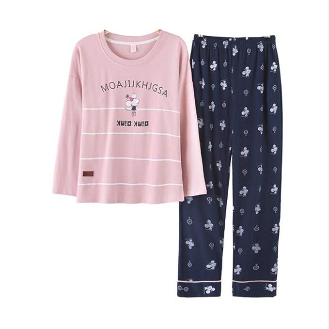 Mmllse Señoras Pijama Casual Establece Pijamas De Dibujos Animados De Otoño Ratón Vestirse Dormir Ropa De