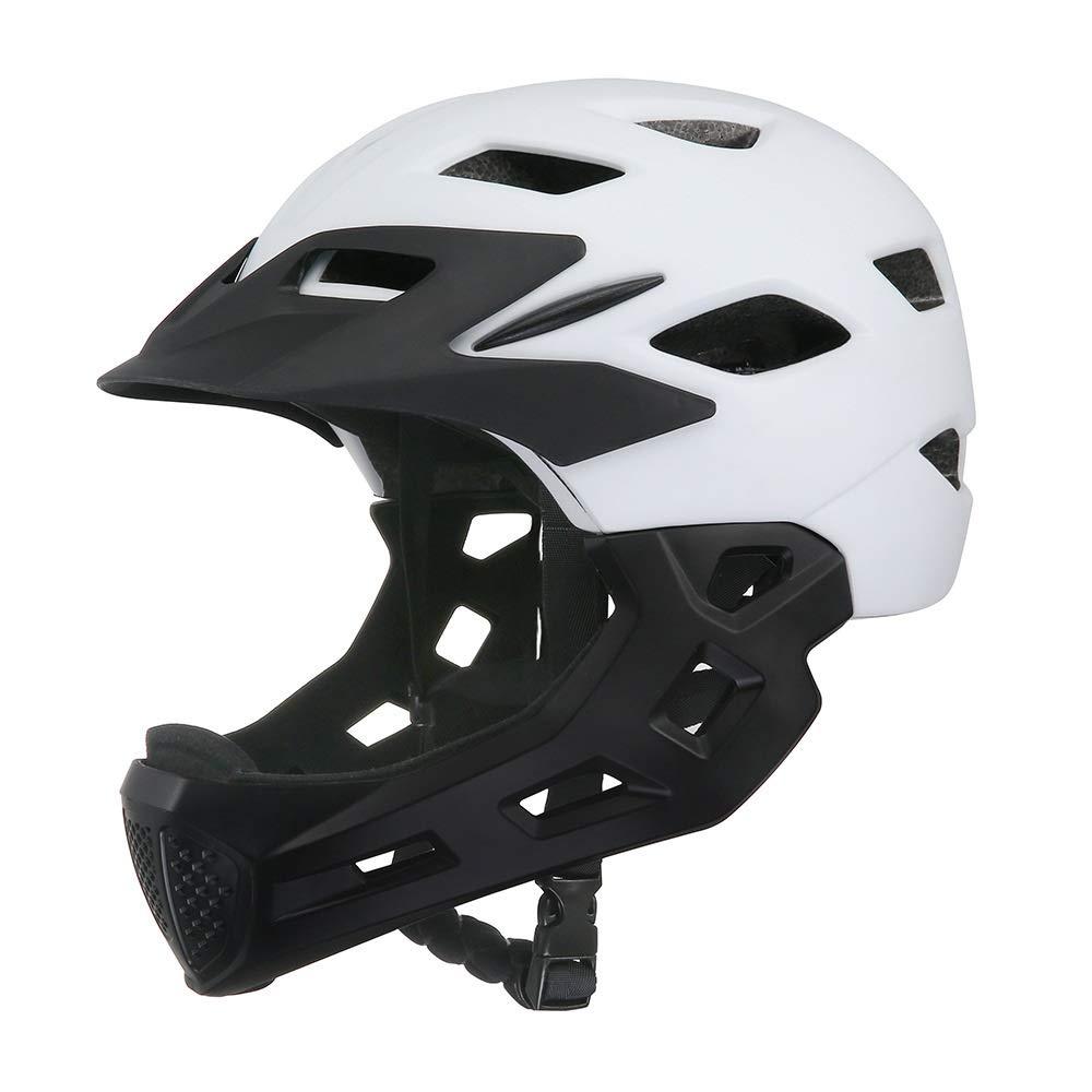 ヘルメットキッズバイクヘルメット調節可能スケートボードヘルメット耐衝撃ベンチレーションマルチスポーツスケートボード自転車スクーターローラースケートサイクリング年齢313歳男の子女の子 (Color : White)   B07R6BQQ93