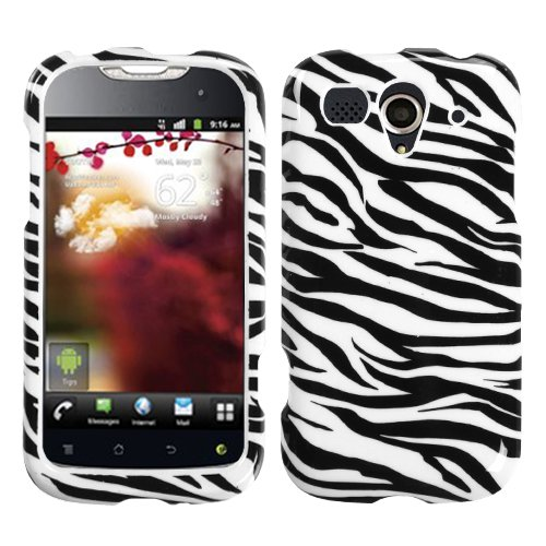 (MYBAT HWU8680HPCIM056NP Slim and Stylish Protective Case for The Huawei myTouch U8680 - Retail Packaging - Zebra Skin)