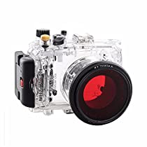 EACHSHOT 40m/130f Waterproof Underwater Camera Housing Diving Case for SONY DSC-RX100 ii/RX100M2/RX100 Mark2 + Red Filter 67mm