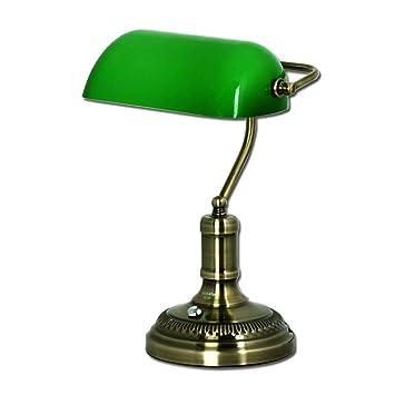 Lámpara clásica de sobremesa del Banco de Bronce/Lámpara de ...