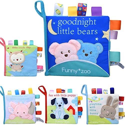 Xiaoyu tela suave de tela de beb/é libros de educaci/ón temprana juguetes actividad de tela arrugada libro de tela perfecto para el regalo de la ducha del beb/é la hora de dormir historia b/úho