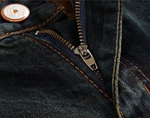 De Pitillo Pantalones Mezclilla Puntada Hombres Colour Battercake Ajustados Casuales Jeans Usedlook Los Vintage Cómodo Vaqueros Rasgada w0qdp5Ep