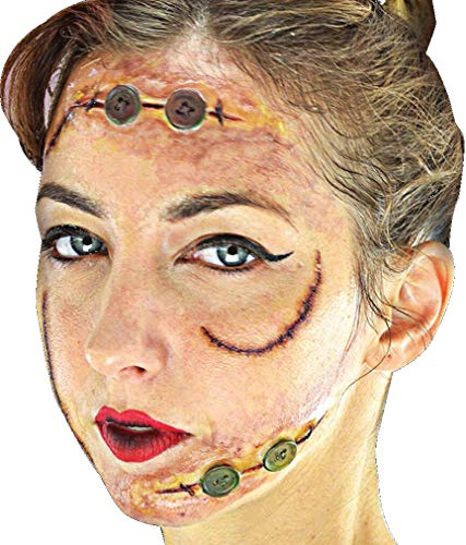 Woochie 3D FX Kit - Professional Quality Halloween Costume Makeup - Buttons -