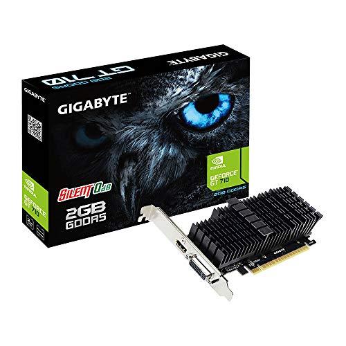 Gigabyte GeForce GT 710 Silent 2GB GDDR5 grafische kaart GV-N710D5SL-2GL , zwart