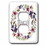 3dRose TNMGraphics Scripture - Psalm 118 Floral Wreath This is the Day the Lord Has Made - Light Switch Covers - 2 plug outlet cover (lsp_286314_6)