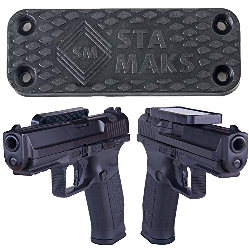 Stamaks Magnetic Gun Mount & Holster For Vehicle And Home - Rubber Coated 43Lbs Safe Storage and Quick Access to Firearm Concealed Holder For Handgun Rifle Shotgun Pistol Revolver Truck Car Wall (One In All Computer Table)