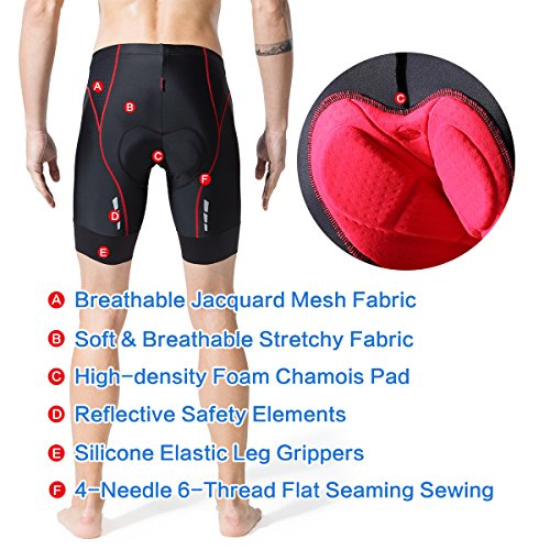 sk Men's Bike Shorts Cycling Shorts for Road Cycling with 6 Layers Padded - http://coolthings.us