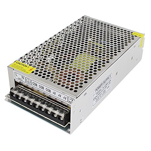 Aiposen 110V/220V AC to DC 24V 10A 240W Switch Power Supply Driver,Power Transformer for CCTV camera/ Security System/ LED Strip Light/Radio/Computer Project(24V 10A)
