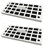 Replacement Air Deodorizer Filter Compatible GE Cafe Series Refrigerator Odor Removed - 2 Filters