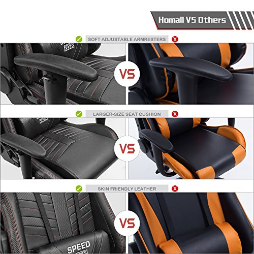 Homall Gaming Chair Racing Office Chair High Back Leather