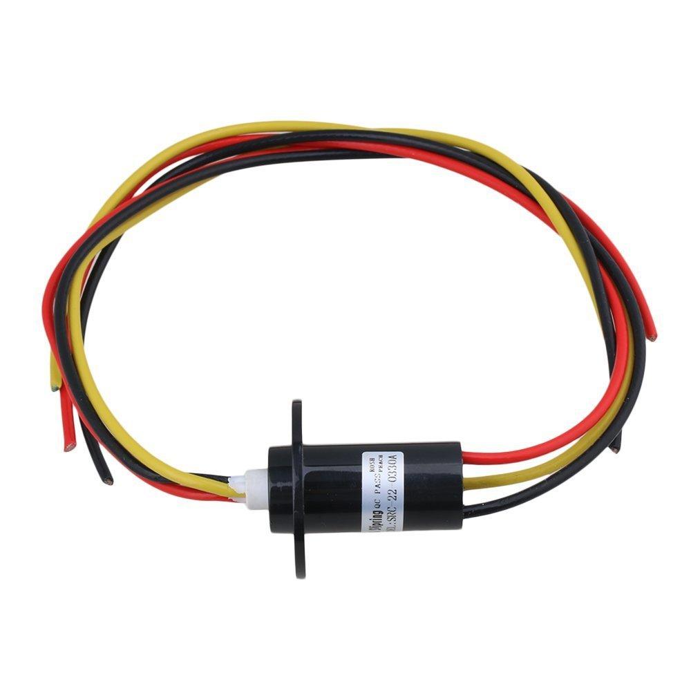 bqlzr 3 Drä hte 30 A 250RPM 240 VAC 22 mm Dia groß e aktuellen Leiter Capsule Slip Ring ableitfä hige Ring fü r Monitor Robotic M4170509012