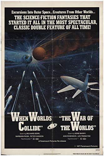 When Worlds Collide/The War of the Worlds 1977 Authentic 27″ x 41″ Original Movie Poster