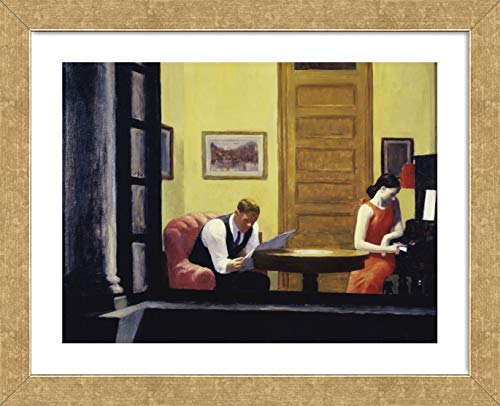 McGaw Graphics Room in New York, 1932 by Edward Hopper Framed Print, 16x13x1, Multi 1932 Gold Framed Print