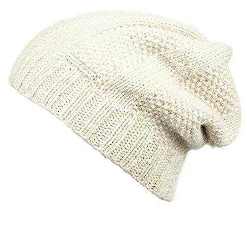 LUNA & TERRA - PADUA Hat Beanie Hand Knitted 100% BABY ALPACA (Ivory)