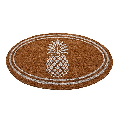 Mud Pie 4265345 Welcome Woven Coir Pineapple Door Mat