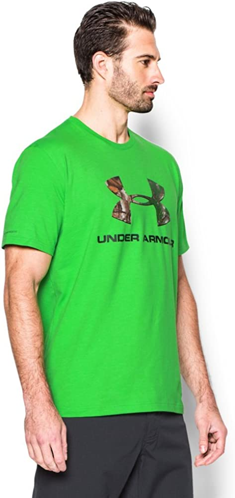 Under Armour Mens Camo Fill Logo T-Shirt