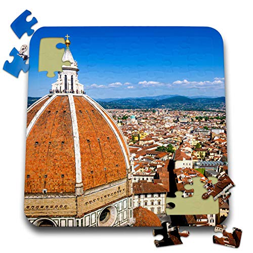 3dRose Danita Delimont - Florence - The Duomo Dome and Rooftops from Giottos Bell Tower, Florence, Italy - 10x10 Inch Puzzle (pzl_313744_2)